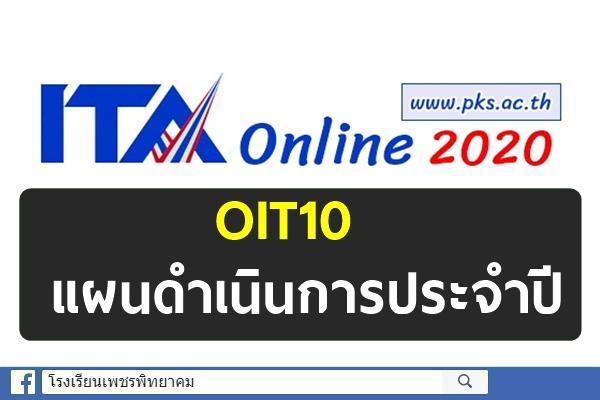 OIT10 แผนดำเนินการประจำปี