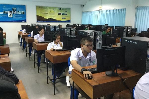 เพชรพิทยาคม สอบวัดความสามารถทางภาษาอังกฤษ Lingualskill ของครู นักเรียน