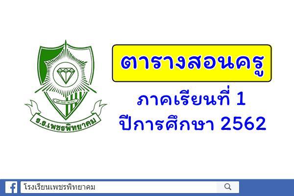 ตารางสอนครู ภาคเรียนที่ 1-2562 (9 พ.ค. 2562)