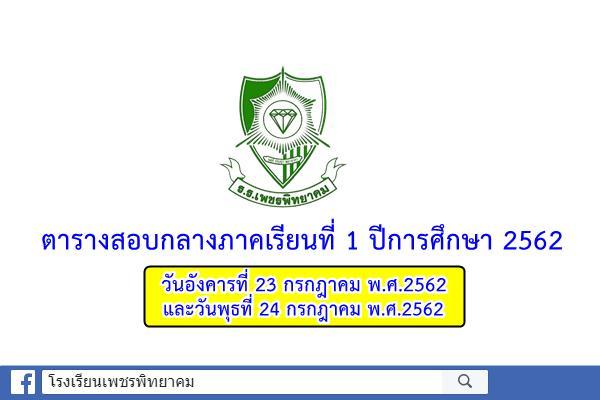 ตารางสอบกลางภาคเรียนที่ 1 ปีการศึกษา 2562 (วันที่ 23-24 กรกฎาคม 2562)