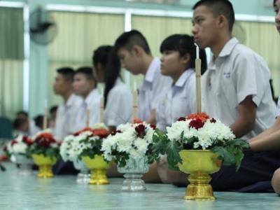 พิธีไหว้ครูประจำปีการศึกษา 2558