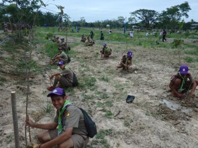 กิจกรรมโครงการรวมพลังลูกเสืออนุรักษ์ทรัพยากรธรรมชาติฯ