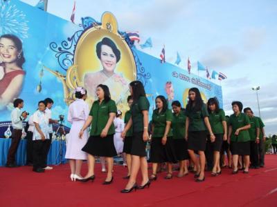 จุดเทียนชัยถวายพระพรวันแม่แห่งชาติ 12 สิงหาคม 2557